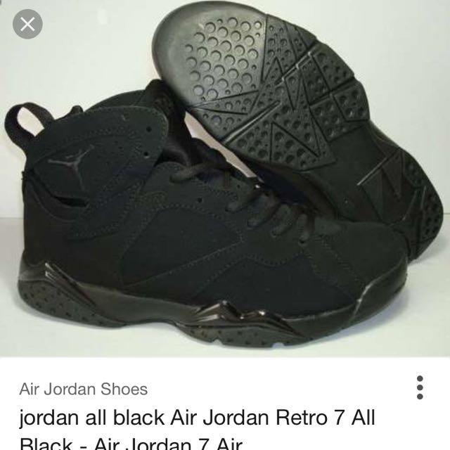 Air Jordan 7's All Black