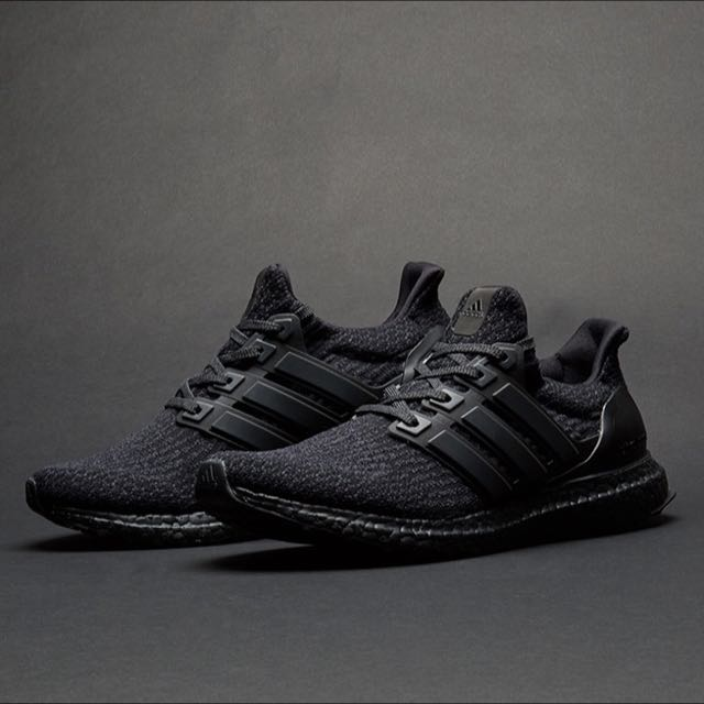 ef4fe4576 Authentic Adidas Ultra Boost 3.0 Triple Black