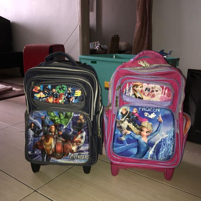 Avengers & Frozen Bag For School