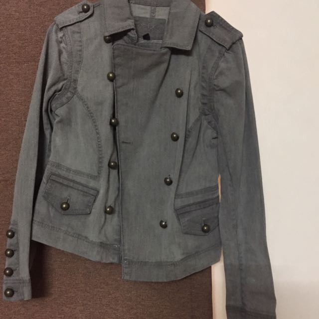 Bebe Denim Jacket size Small To Medium Can Fit SALE!!!