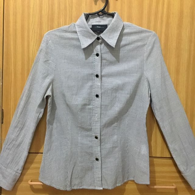 Blackshop Blue/ Grey Striped Long-sleeves