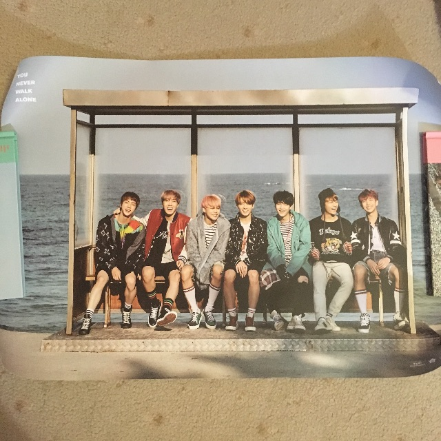 BTS You Never Walk Alone Right Version (PINK) + Standee + Posters