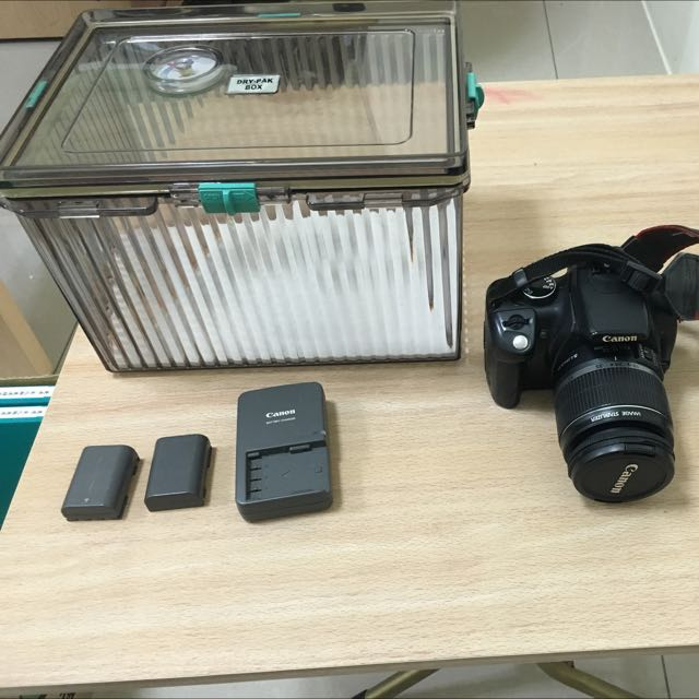 Canon Ds126071 附鏡頭 兩顆電池 防潮箱(亦可換物)