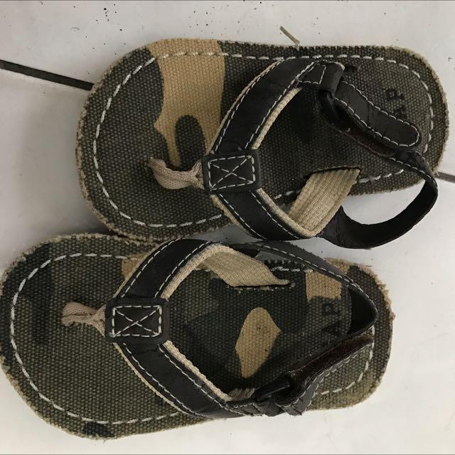CAP童鞋夾腳拖鞋 涼鞋 14公分 迷彩風格