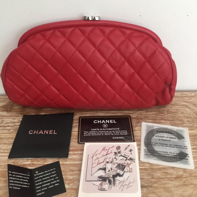Chanel Red Clutch Mirror Quality (KW SUPER)