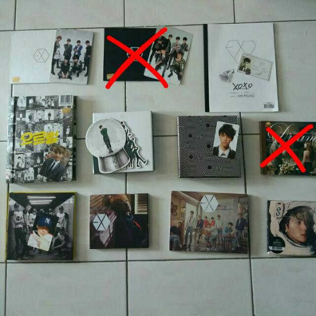 [CLEARANCE SALE] EXO OFFICIAL ALBUMS AND MERCHANDISES