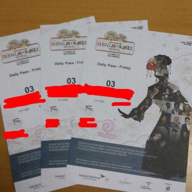 DAILY PASS JAVA JAZZ FESTIVAL 3 MARCH 2017