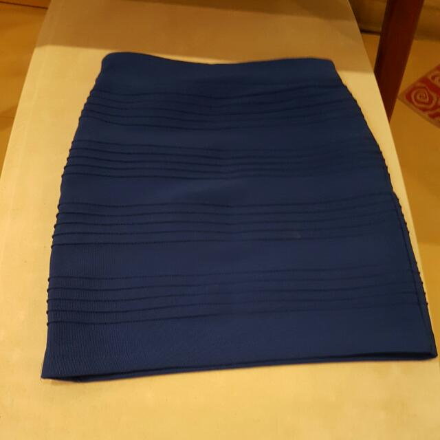 Electric Blue Bodycon Skirt