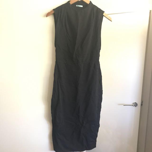 Fitted Black Midi Dress