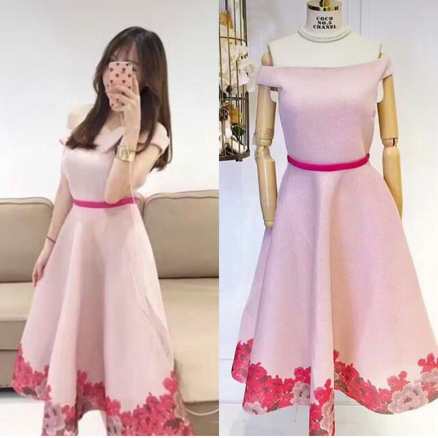 Flurry Dress Pink (Free ONGKIR)