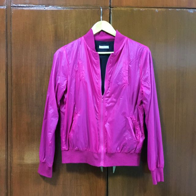 Folded & Hung Pink Jacket
