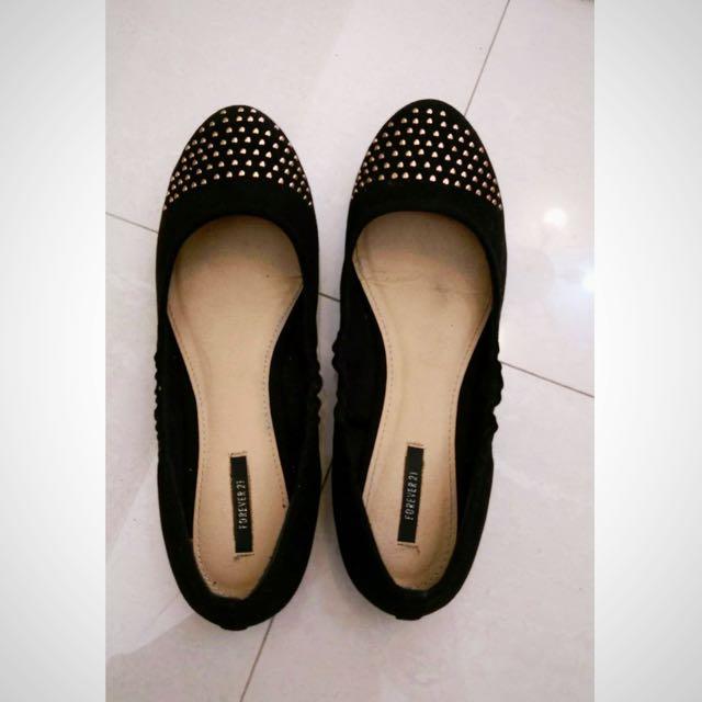 Forever 21 黑色平底鞋