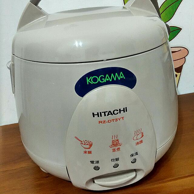 HITACHI 日立 電子鍋 電鍋 料理鍋 三人份