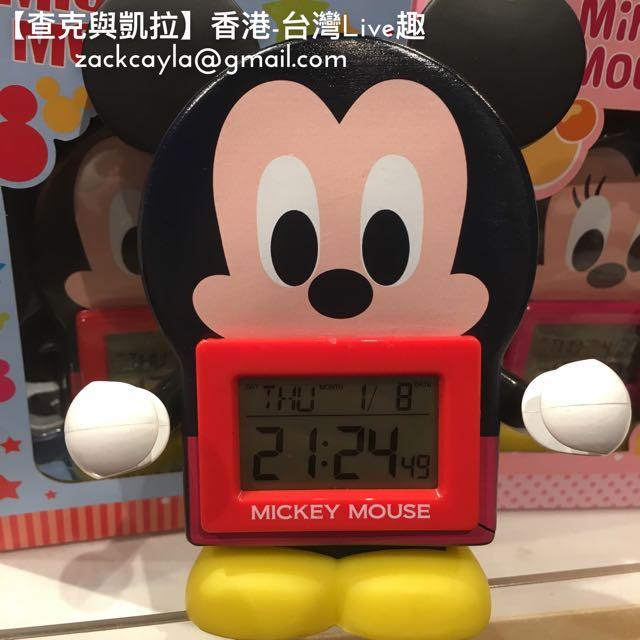 【HK代購】迪士尼 米奇/米妮 電子鬧鐘
