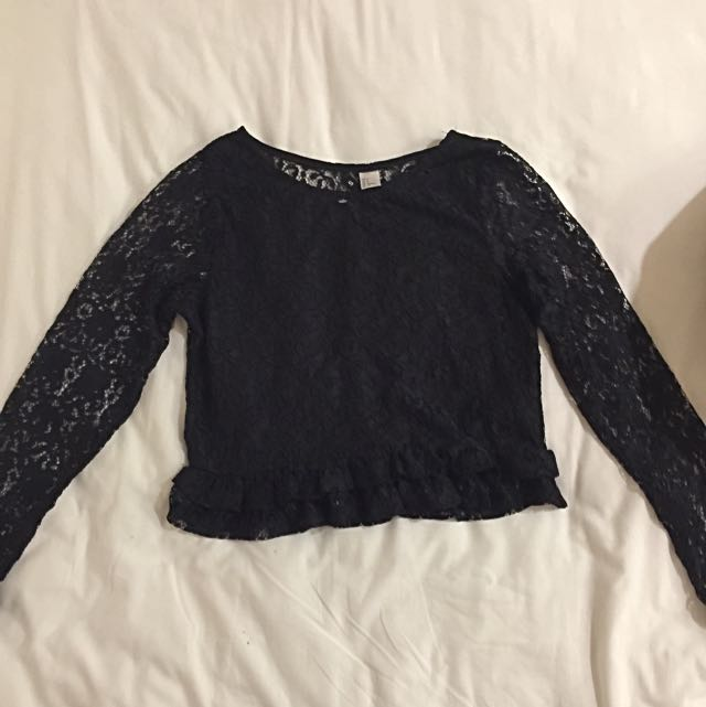 H&M Lace Crop Top