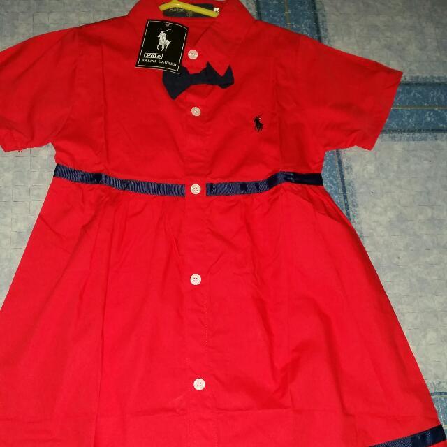kids red dress