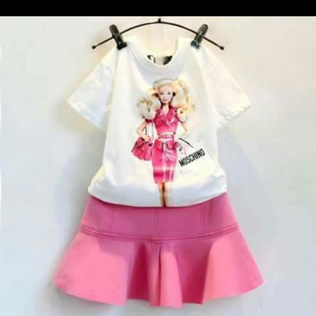 💕Kid's Wear Barbie Cotton Terno Set