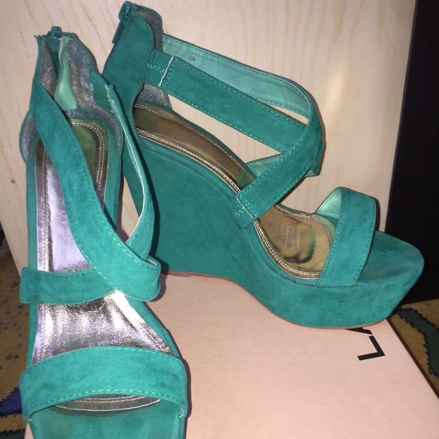 Lavish Size 10 Platform Suede Heels