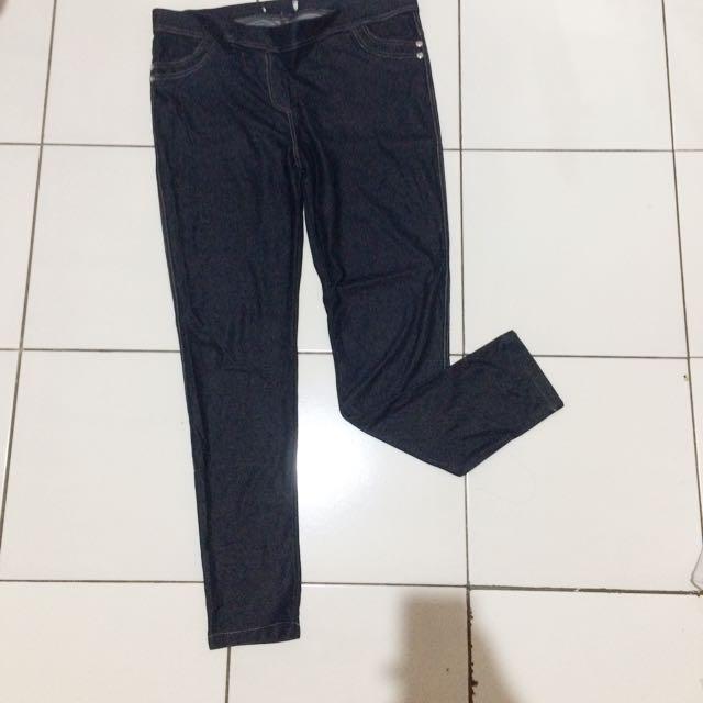 Legging - Legging Dongker - Jeans Bahan Legging