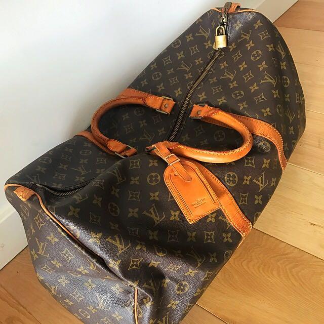 Louis Vuitton Keepall 55 Travel Duffle Bag VINTAGE