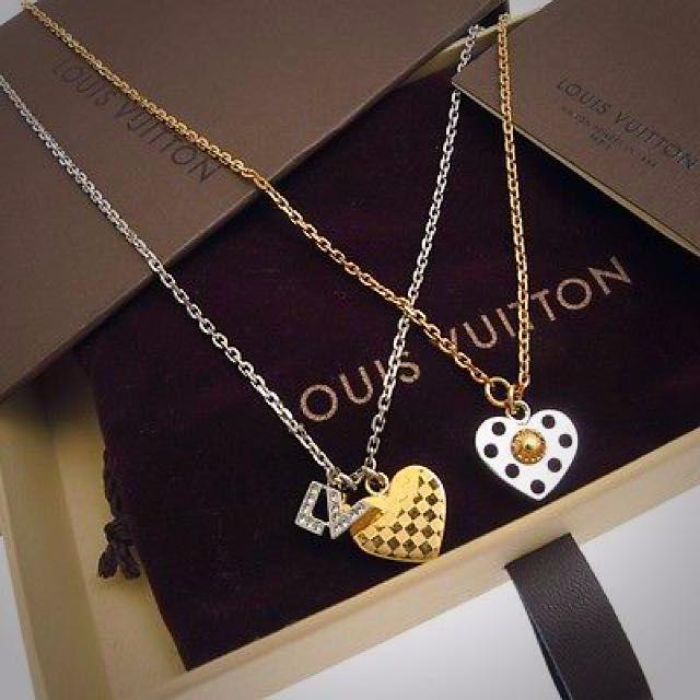 Louis Vuitton Spiky Valentine Pendant Double Necklace Louis Vuitton Spiky Valentine Pendant Double Necklace