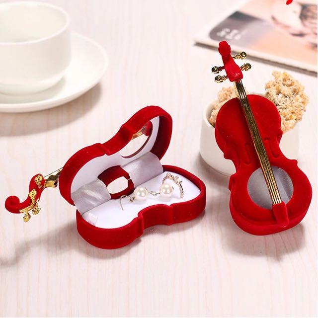 Music Violin Jewelry Box / Tempat Cincin Musik Biola