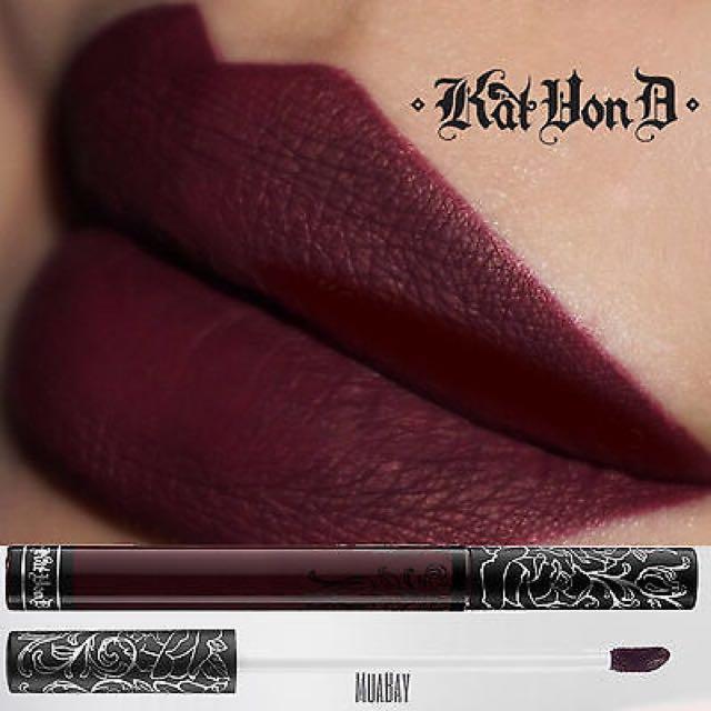 NEW KAT VON D Exorcism liquid Matte Lipstick ripe Blackberry Gothic Goth Fail Shade