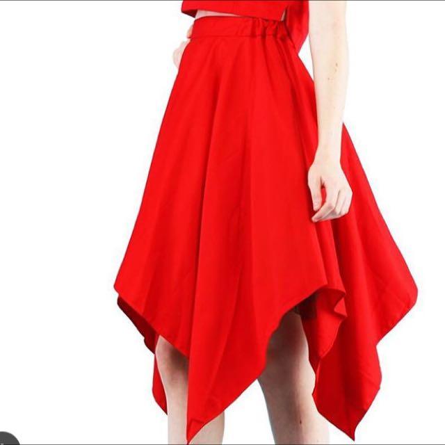 NEW red Skirt Premium Quality
