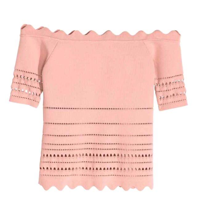 Off Shoulder Tops Pink