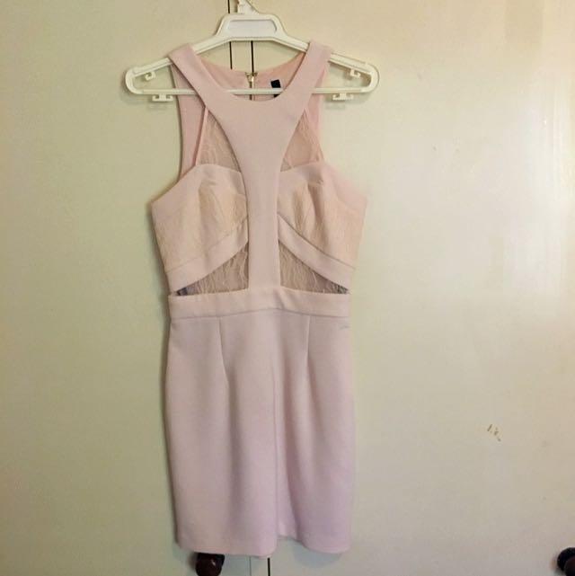 Pastel Pink Cocktail Dress (Miss shop)