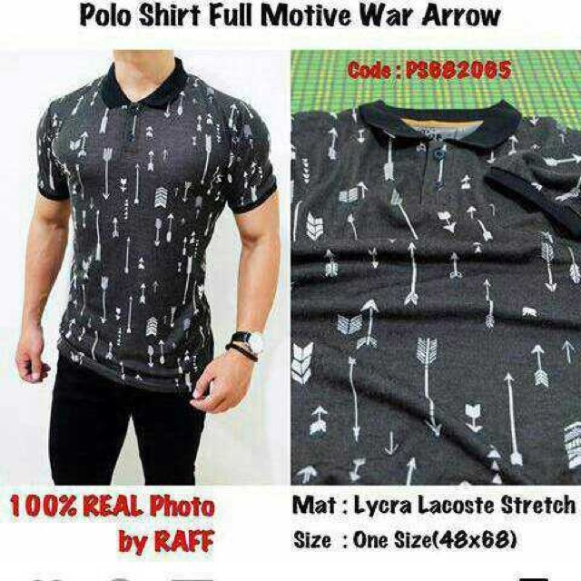 Polo Shirt Full Motive War Arrow
