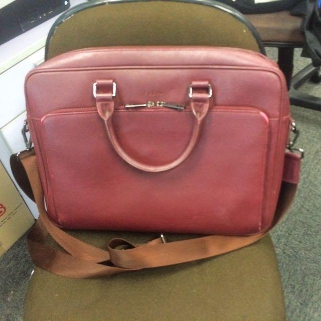 Preloved Red Pedro Laptop Bag 14inch
