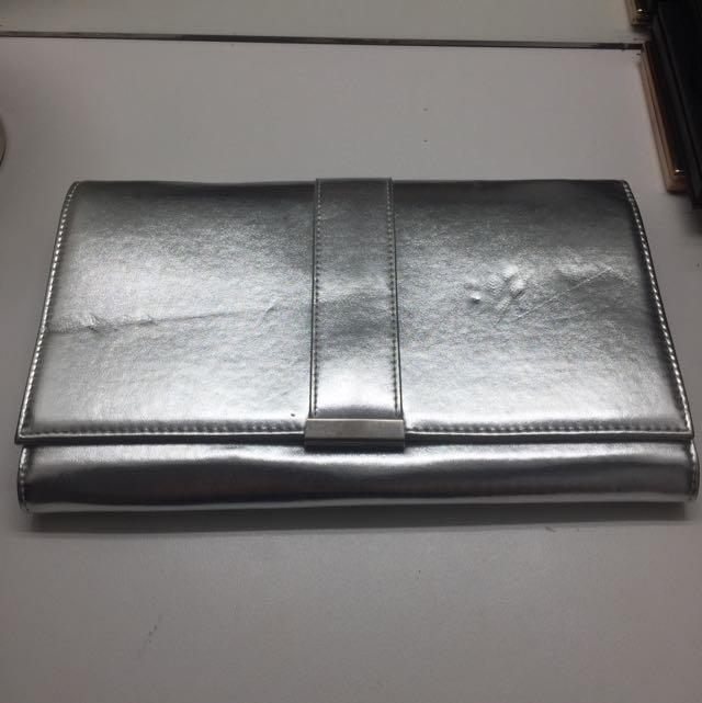Silver Envelope Clutch