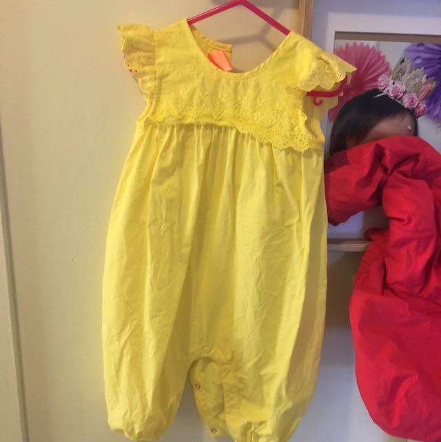 Size 1 Yellow Summer Romper