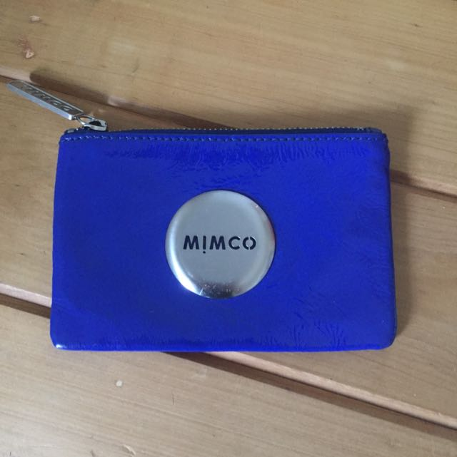 Small Marine Blue Mimco Pouch