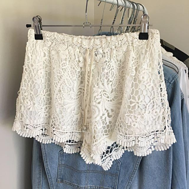 Crochet Festival Shorts Brand New