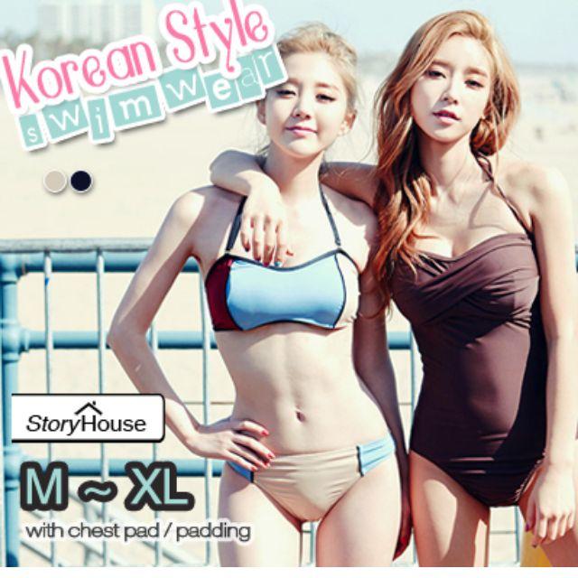 47661e761f  STORY HOUSE Korean SwimSuit ☆ bikini swimwear swimming summer wear beach  wear one piece A010-SW