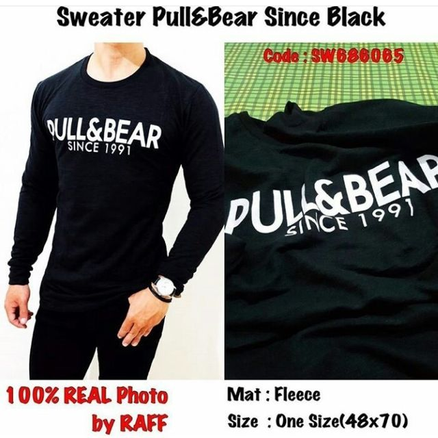 Sweater Pull & Bear Since Black