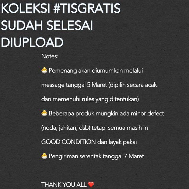 #TISGRATIS DONE UPLOADING