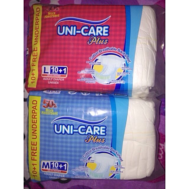 Unicare Adult Diaper 10+1 pads