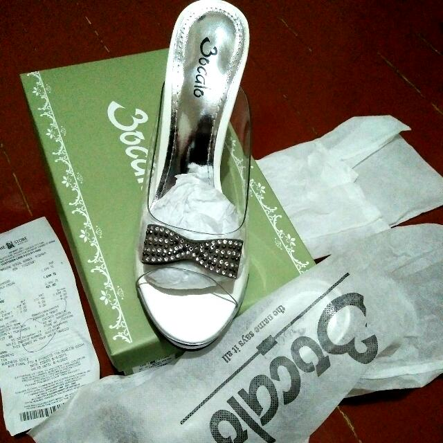 White & Silver Bocalo Casual High Heels