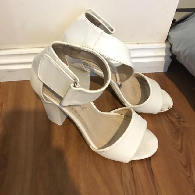 White small heel