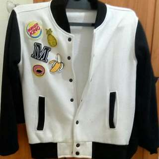 REPRICE!! Patch Bomber Jacket