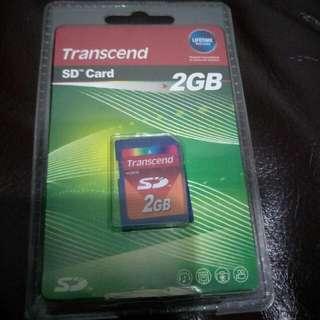 創見 2GB SD記憶卡 (買一送一隨便賣)
