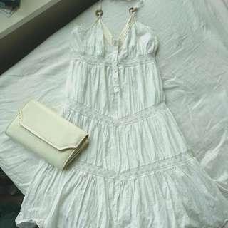 DKNY White Summer Dress Xs
