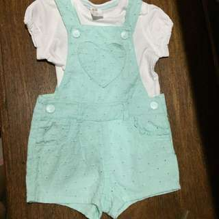 H&M t-shirt and overall set 6 to 9 months   BABY CLOTHES