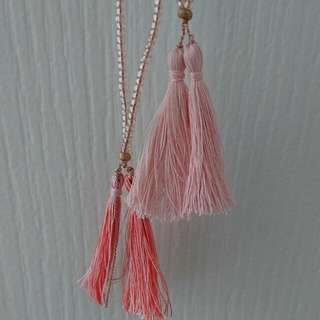 Handmade Beaded Tassel Necklaces