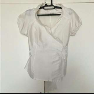 Back Ribbon White Top by Occasion