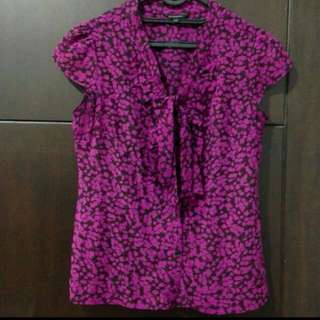 The Executive Purple Bow Shirt