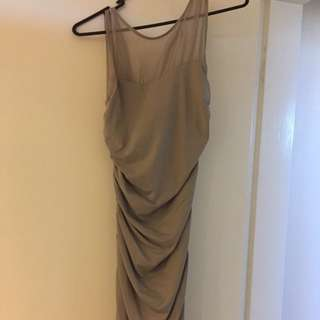 Grey Midi Kookai Dress